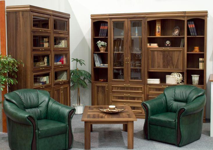 Tömör dió klasszikus nappali bútor